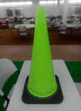Lime PVC Road Traffic Safety Cones