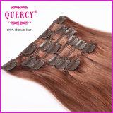 Зажим волос верхней девственницы ранга 100g 20inch индийский в выдвижении волос слоя