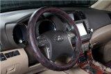 Het Ecologische leder-Rood van de Dekking van het Stuurwiel van de auto