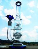 L'acquazzone doppio del tubo bianco crema Hb-K4 in linea filtra le condutture di vetro di acqua