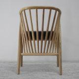 Braço de madeira da mobília moderna que janta a cadeira