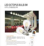 Alta luz de bulbo del filamento LED del lumen E27 E26 B22 6W 8W Edison