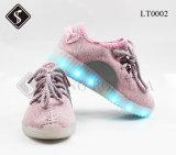 최신 판매 아이 및 여자 LED 운동화 단화