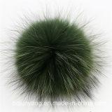Bolas al por mayor de la piel POM POM del mapache para el sombrero