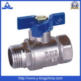 Soupape en laiton de l'eau de bille de prix usine (YD-1011)
