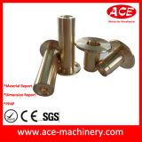 El trabajar a máquina del CNC de la pieza de poste del metal