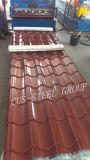 Folha de aço revestida de aço vitrificada PPGI da placa de telhadura do OEM/do telhado cor do Trapezoid