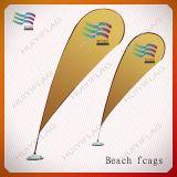 Indicateur de plage pliable rectangulaire de drapeau de larme de la publicité extérieure (HY-AF567)