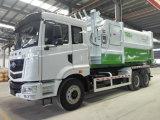 Caminhão de compressão de lixo com 16 cbm de lixo