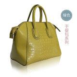 Os sacos de Tote superiores os mais atrasados do crocodilo da grão para coleções genuínas do saco de couro das mulheres