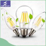 lâmpada do diodo emissor de luz da vela do filamento de 220V 110V