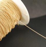 1.2mm 금관 악기 금속 구슬 보석 공 사슬 못 예술 금속 사슬 (TC 1.2mm 금 또는 은)