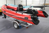 4.25m Hypalon Rib Boat (met 40HP outboards SAIL)