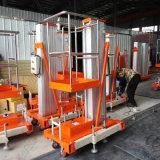 Draagbaar Elektrisch Lucht Werkend Opheffend Platform Één Platform van de Lift van de Legering van het Aluminium van de Mast het Hydraulische