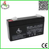 Bateria acidificada ao chumbo selada recarregável do AGM da venda quente 6V 1.2ah