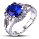De Ring van de Gift van de Dag van de zilveren Valentijnskaart van de Vrouw