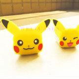 보편적인 Pokemon는 여행 Pikachu 판지 USB 비용을 부과하거나 충전기 헤드 간다