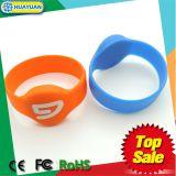 Wristband clásico de goma del silicón MIFARE 1K RFID de la identificación del bloqueo de puerta