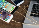 El surtidor de China del nilón aisló la cuerda de 8 del Pin del relámpago del USB datos del cable