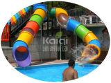 Campo da giuoco esterno di plastica delle attrazioni favorite dei bambini di Kaiqi per l'iarda di banco, il cortile posteriore ed il parco di divertimenti