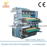 Machine d'impression multicolore flexographique de film plastique