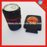 Birra pieghevole nera del neoprene del supporto di bottiglia tozza