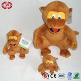 Trois tailles reposant le jouet de peluche de qualité de singe de Brown Velboa