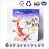 Las compras profesionales de la fábrica llevan la bolsa de papel del totalizador de la Navidad
