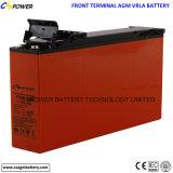 batería de plomo del ciclo profundo terminal delantero 12V100ah para el uso de las telecomunicaciones