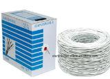 Cat5e, 350 MHz, UTP, 24 AWG, 8c sólido de cobre desnudo, 1000FT, Blanco, cable Ethernet LAN a granel