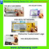 Loupes promotionnelles de carte de loupe de PVC de 3X 6X avec la grille de tabulation Hw-801A