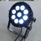 옥외 방수 LED 빛을 흐리게 하는 9X18W Rgbawuv 6in1