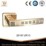 Poignée de levier de porte en alliage de zinc à diamant brut non mûri (Z6187-ZR20)