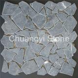 Branco por atacado/preto/ouro/basalto/ardósia/escudo/granito/vidro cinzentos/mosaico de pedra telha do mármore/Travertine/Limstone/