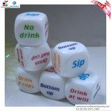 Dice de Game Dice 25 milímetro Acrylic da aposta dos bebedores em inglês