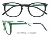 Eyeglass redondo popular do templo de Eyewear do frame ótico do acetato da alta qualidade