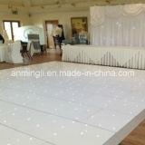 백색 LED 반짝임 춤 단계 위원회