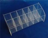 12 ranuras despejan el sostenedor plástico de acrílico de la exhibición del lápiz labial para la exhibición de la posición