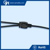 Ясный водоустойчивый силовой кабель DC Male&Female