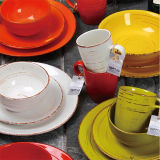 Brown scuro Ceramic 16PCS Dinner Set