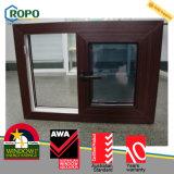Fenêtre coulissante en bois UPVC / PVC, fenêtre en vinyle