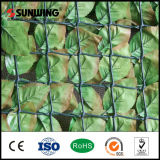 PVC chinês Artificial Green Leaf Fence de Suppliers com Fireproof Test