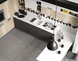Gabinete de cozinha do MDF da mobília da cozinha com as bancadas Precut do granito