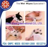 Животное обтирает Wipes любимчика для продуктов шерсти внимательности кота собаки и Wipes лапки