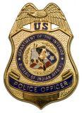 La policía de encargo del metal nombra el botón de la escuela divisa militar del Pin