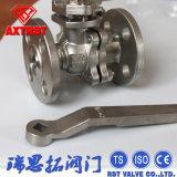 API/DIN a bridé robinet à tournant sphérique de l'acier inoxydable 2PC