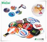 Impermeable Mini tarjeta USB Memory Stick con logotipo de colores (WY-C14)