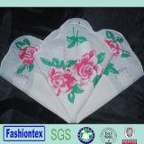 Pañuelo de lujo impreso aduana de la impresión de pantalla de Rose