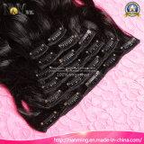 Grampo de cabelo brasileiro do Virgin nas extensões do cabelo humano (QB-CLI-BW)