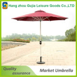 2.7m 둥근 알루미늄 상업적인 사용 안뜰 우산